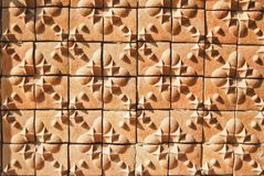 Asian style art brick wall pattern Stock Photos
