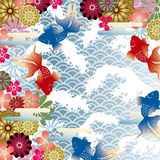 Asian style background. This graphic is asian retro style. Illustration Royalty Free Stock Photography