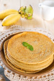 Asian style Banana pancakes Royalty Free Stock Images