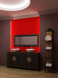 Asian style bathroom interior Royalty Free Stock Photography