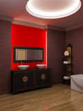 Asian style bathroom interior Stock Image