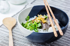 Asian style beef noodles in soup Stock Photos