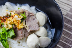 Asian style beef noodles in soup Stock Photo