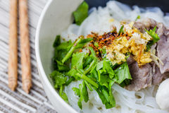 Asian style beef noodles in soup Royalty Free Stock Image