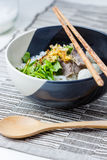 Asian style beef noodles in soup Royalty Free Stock Photography