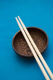 Asian style bowl and chopstick Royalty Free Stock Photography