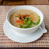 Asian style breakfast soft boiled rice Royalty Free Stock Photos