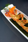 Asian Style Crab Rangoons Royalty Free Stock Images