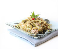 Asian style dish with vegetables and tuna fish Royalty Free Stock Photos