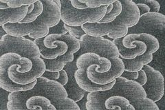 Asian style flower pattern. On a wall Stock Images