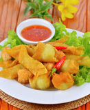 Asian Style food , Deep Fried Wonton Stock Photo