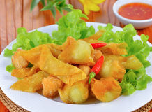 Asian Style food , Deep Fried Wonton Royalty Free Stock Photo