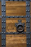 Asian Style Fortress Door with Rivets Stock Images