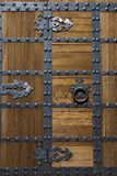 Asian Style Fortress Door with Rivets Stock Photography