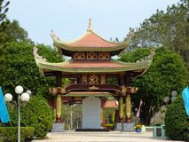 Asian style gazebo called Ben Duocin Vietnam Royalty Free Stock Photography