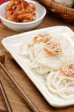 Asian style grilled shrimps with noodle Stock Photography