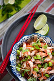 Asian style healthy salad. With crayfish and edamame Royalty Free Stock Image