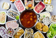 Asian style hot pot cook Stock Images