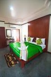 Asian style hotel room Stock Photo