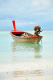 Asian style long tail boat Royalty Free Stock Photos