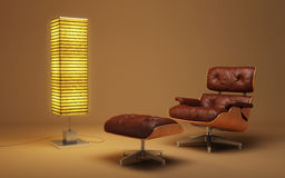 Asian style lounge room Royalty Free Stock Images