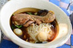 Asian style noodle with chicken Stock Photos