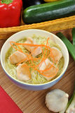 Asian style noodle chicken soup Stock Photo