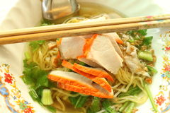 Asian style noodle with pork Stock Photography