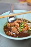 Asian style noodle with pork and vegetables Stock Image