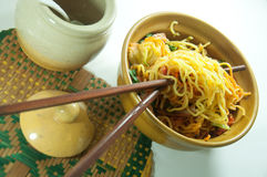 Asian style noodle Stock Images