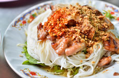 Asian style noodle with spicy sauce Stock Image