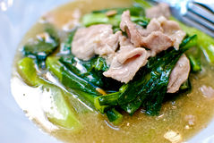 Asian Style Noodle With Pork Soup Stock Images
