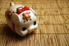 Asian style piggy bank Royalty Free Stock Image