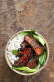 Asian Style Pork Ribs Stock Photos