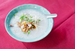 Asian style of rice gruel Stock Photo