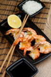 Asian Style Roasted Shrimps Stock Images