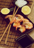 Asian Style Roasted Shrimps Stock Photography