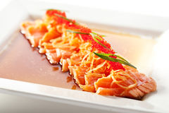 Asian Style Salmon Fillet Royalty Free Stock Images