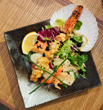 Asian style seafood dish Royalty Free Stock Images