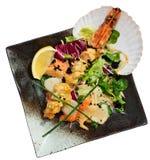 Asian style seafood dish Stock Photos