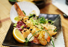 Asian style seafood dish Royalty Free Stock Photo