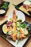 Asian style seafood dish Royalty Free Stock Photos