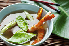 Asian style seafood soup Stock Photos