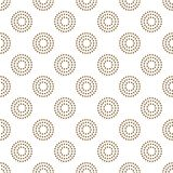 Asian style simple seamless vector design pattern. Gold line dotted circles background Stock Image