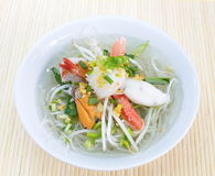 Asian Style Spicy Noodle With Seafood Stock Images