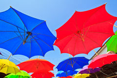 Asian style umbrella Royalty Free Stock Photos