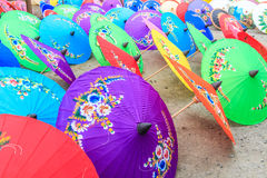 Asian style umbrella Royalty Free Stock Images
