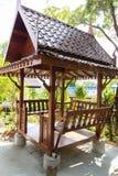 Asian style wooden gazebo Stock Photography