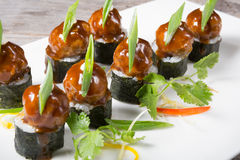 Asian styled meatballs Stock Image