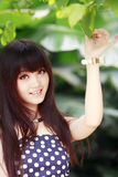 Asian summer girl Stock Photos